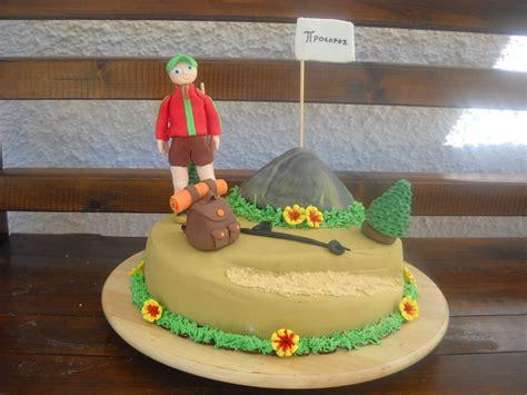 hiking cake cakes pinterest