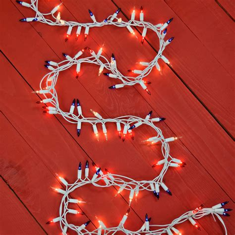 red white and blue lights red white blue cluster string lights 150 count