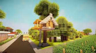 How to build a simple starter treehouse minecraft building inc
