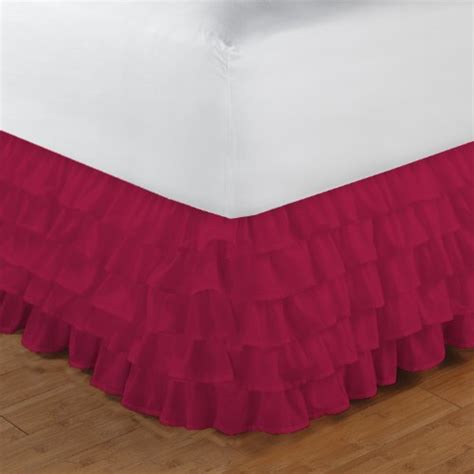 pink bed skirt full full size ruffle bed skirt egyptian cotton 1000tc pink