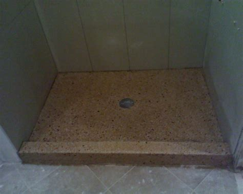 Poured Shower Pan by Terrazzosc Home