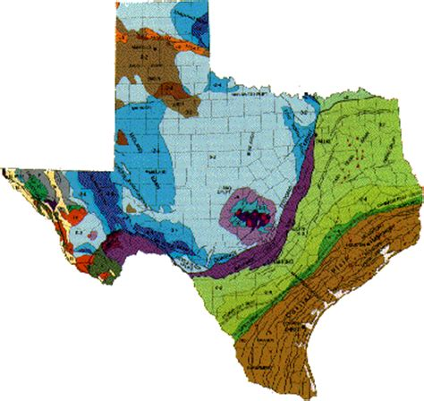 geologic map of texas geology of texas