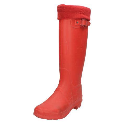 Fleece Boots womens spot on fleece lined wellington boots ebay