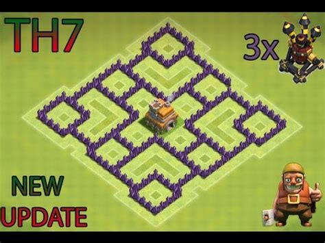 best clash of clans defence 7 hd image clash of clans th7 defense base 2016 gameonlineflash com