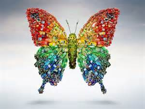 Upcycling Business Ideas - feel butterflies in your stomach with this recycled art form green diary green revolution