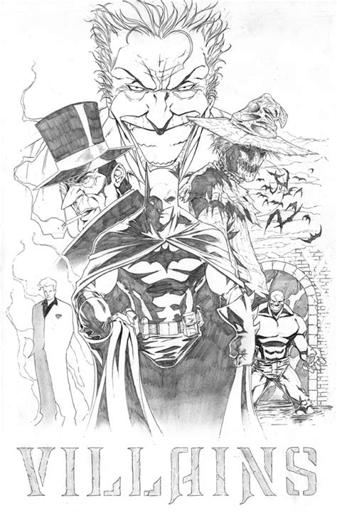 batman villains by sketchpimp on deviantart