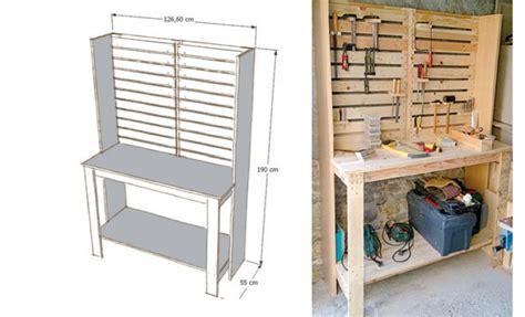 Rangement Atelier Palette construire un meuble d atelier avec des palettes