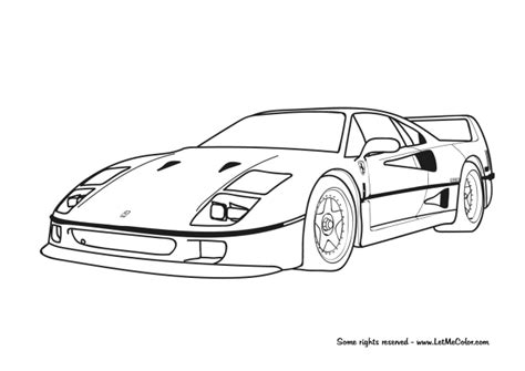 ferrari coloring sheets coloring pages