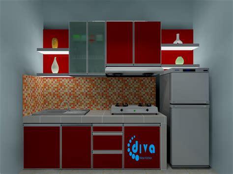 desain dapur single line diva metal kitchen