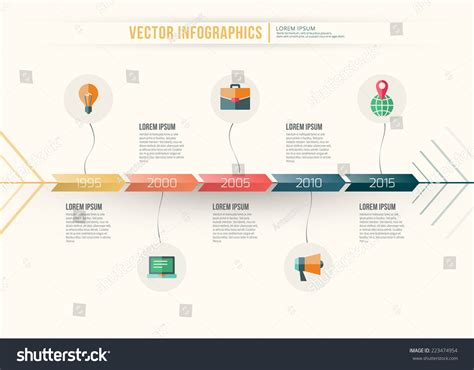 workflow timeline template vector abstract timeline infographic design workflow