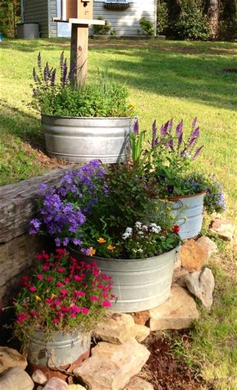 Garden Tubs And Pots Galvanized Container Garden