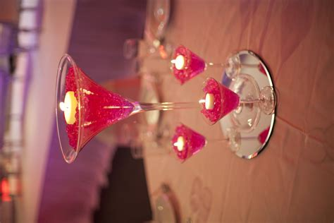 martini glass centerpieces an eye catching wedding