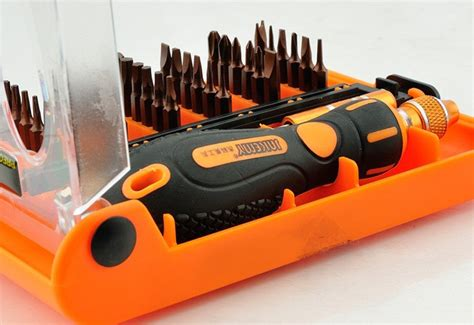 32in1 Mini Precision Screwdriver Set Jackly Obeng Set Jakemy 38 In 1 Mini Screwdriver Set Jm 8106 Jakartanotebook