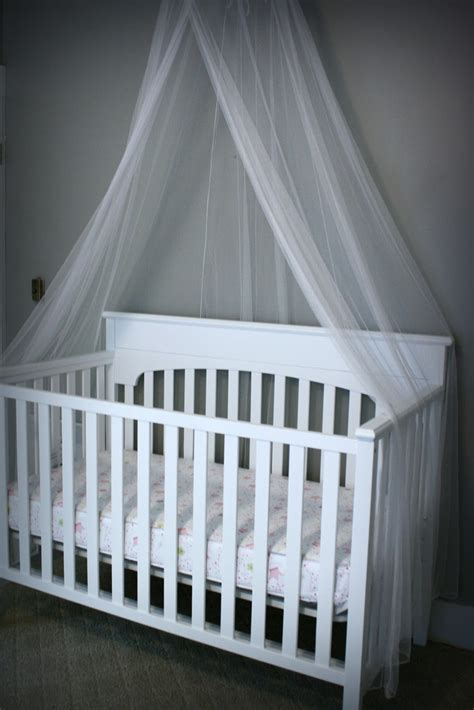 Crib With Canopy by Wonderful Happenings Project Nursery Started