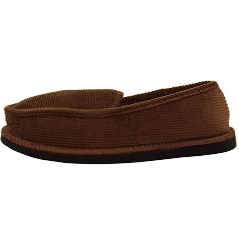 indoor house shoes mens slippers house shoes corduroy color slip on moccasin