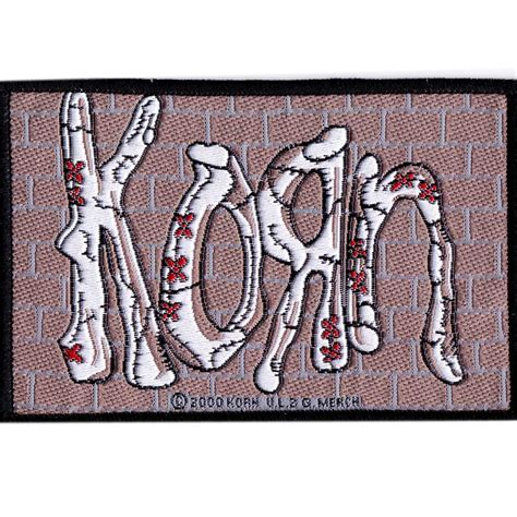 Korn Logo 1 korn brick wall logo patch