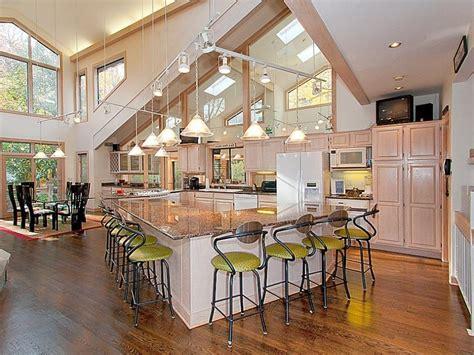 open floor plan kitchens
