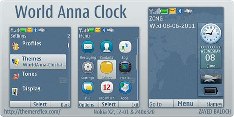 qmobile x2 themes free download world anna clock theme for nokia x2 240 215 320 themereflex
