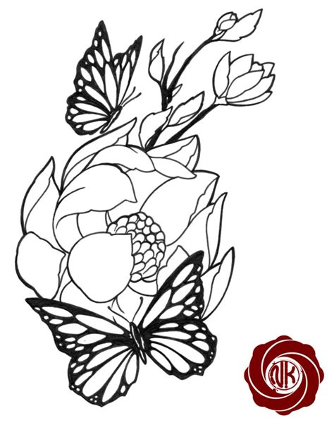 flower with butterfly tattoo designs 55 butterfly flower tattoos