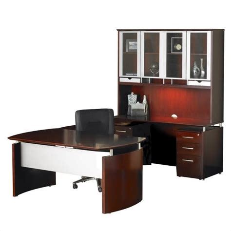 Computer Desk Set Mayline Napoli 72 Quot Computer Desk Set In Cherry Nt36cry