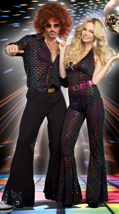 how to dress up for a disco party with pictures wikihow studio 69 disco couples costume men s disco stud costume