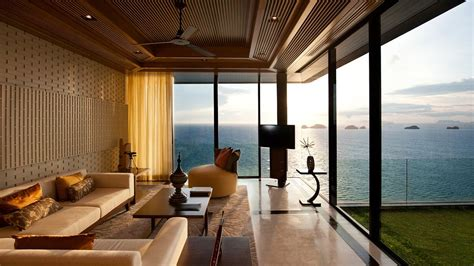 Living Room Pool View Conrad Koh Samui Surat Thani Thailand