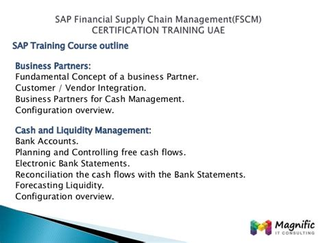 Sap Course For Finance Mba by Supply Chain Management Certification In Canada Best