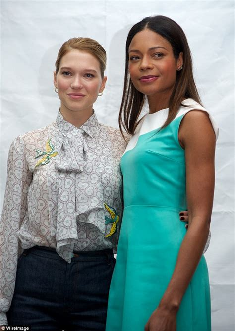 Lea Navy 007 with lea seydoux and naomie harris at