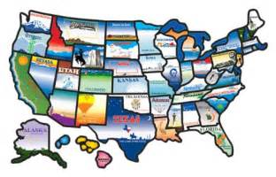 cci permanent state usa map sticker rv cer travel