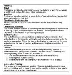 8 step lesson plan template sle madeline lesson plan template 7 free
