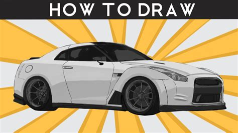 nissan skyline drawing step by how to draw a nissan r35 gtr step by step drawingpat