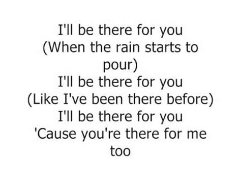 the rembrandts i ll be there for you with lyrics
