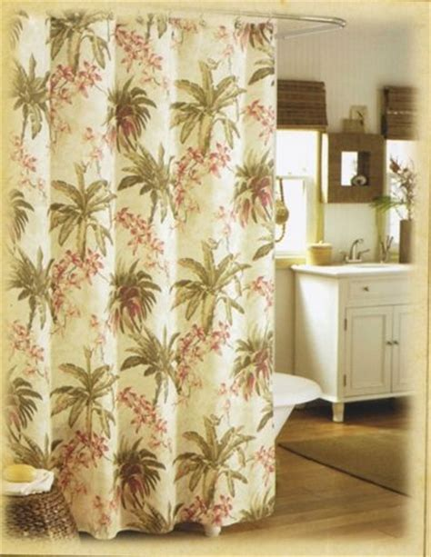 Designer Tommy Bahama Bath Curtain Palm Tree Shower Palm Tree Bathroom Accessories