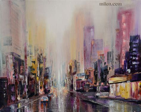 biography of local artist purple rain abstract cityscape sold abstract