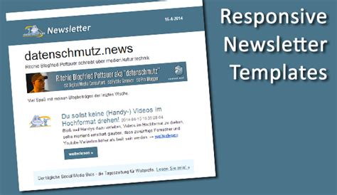 responsive newsletter templates responsive newsletter design e mail templates richtig