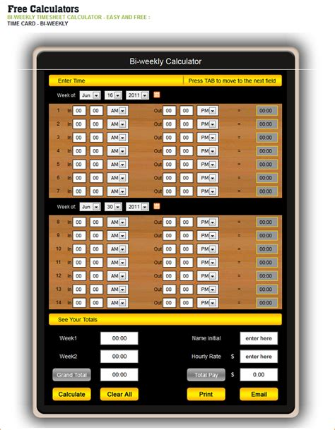 timesheet calculator with lunch biweekly timesheet free time card calculator with lunch free time card