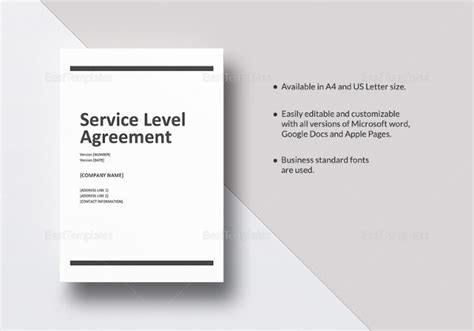 14 Service Level Agreement Templates Free Word Pdf Documents Download Free Premium Templates Vendor Service Level Agreement Template