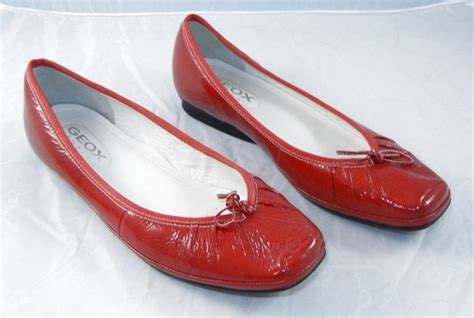 Flat Shoes Nevada Size 40 geox respira patent leather ballet flat womens shoes