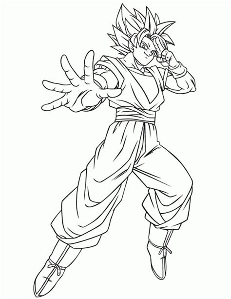 dragon ball z coloring pages super saiyan dragon ball z goku using instant transmission super saiyan