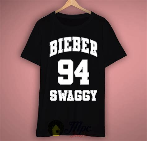T Shirt Kaos Swaggy In White bieber swaggy t shirt for and mpcteehouse