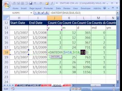 Find Tweets Between Two Excel Magic Trick 151 Datedif Function Between Two Dates