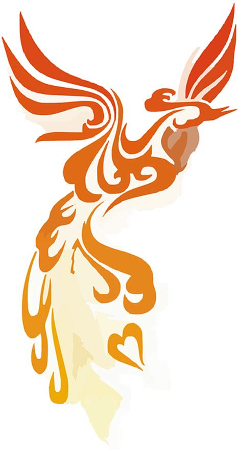 free vector graphic phoenix flames rising bird free