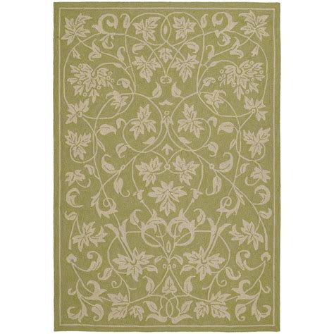 home depot outdoor rugs kaleen home and porch celery 7 ft 6 in x 9 ft