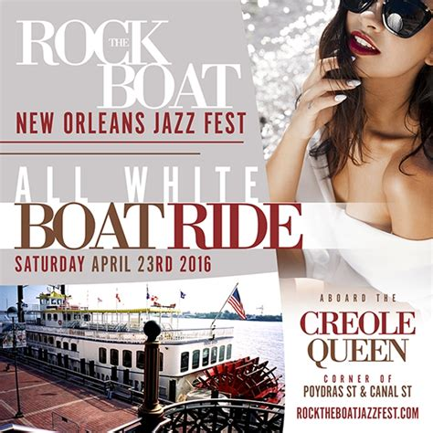 rock the boat white party rock the boat 2016 all white boat ride party during new