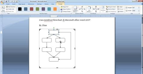 membuat flowchart di microsoft word cara membuat flowchart di microsoft word 2007 youtube