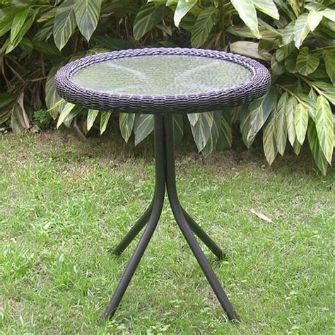 Resin Wicker Patio Table International Caravan Outdoor Resin Wicker And Glass Top Bistro Table Free Shipping