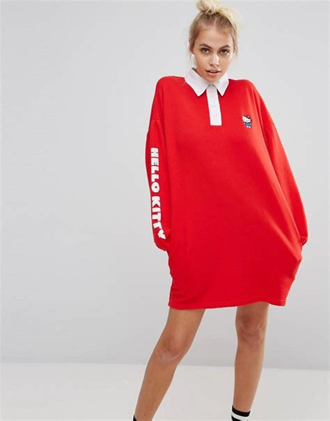 Hello Dress X lazy oaf lazy oaf x hello rugby shirt dress