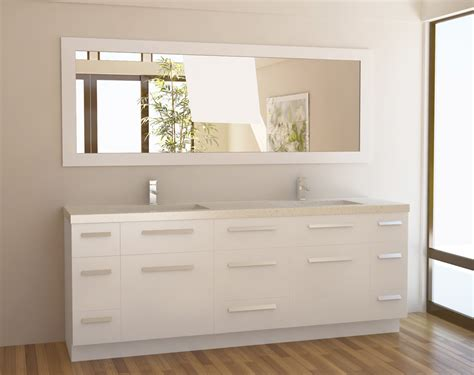 Modern double sink bathroom vanity j84 ds w double sink vanities 72 84