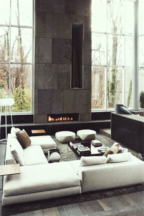 contemporary fireplaces  luxury living rooms