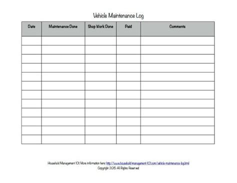 free vehicle maintenance log template free printable vehicle maintenance log why you should